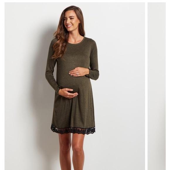 fb1ec159d0f86 pink blush Dresses | Olive Green Maternity Sweater Dress | Poshmark
